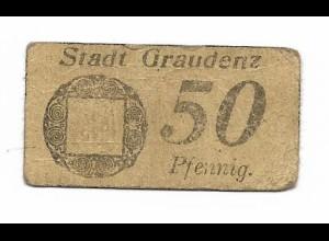 Y19881/ Notgeld 50 Pfennig Sadt Graudenz