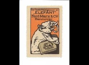 Y183010/ Alte Reklamemarke Weichgummi Elefant - Ferd. Marx Hannover