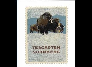 Y18306/ Alte Reklamemarke Tiergarten Nürnberg L. Hohlwein
