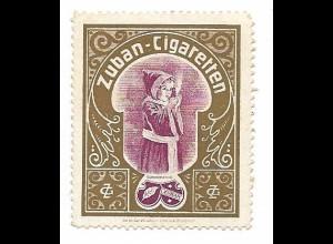 Y18305/ Alte Reklamemarke Zuban-Cigaretten Zigaretten Münchener Kindl
