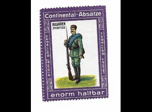 Y18299/ Alte Reklamemarke Continental-Absätze - Bulgarien Infanterie
