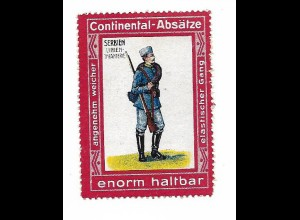 Y18296/ Alte Reklamemarke Continental-Absätze - Serbien Linien-Infanterie