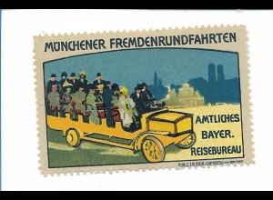 Y18292/ Alte Reklamemarke München Fremdenrundfahrt