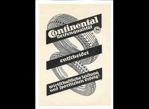 C4028/ Anzeige Continental-Reifen Reklame Werbung ca. 1935
