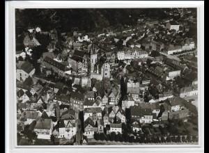 ZZ-2647/ Diez Lahn Foto seltenes Luftbild ca.1935 18 x 13 cm