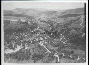 ZZ-2648/ Kusel Foto seltenes Luftbild ca.1938 18 x 13 cm