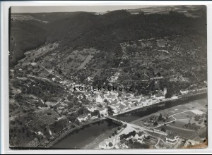 ZZ-2671/ Dausenau a.d. Lahn Foto seltenes Luftbild 1937 18 x 13 cm
