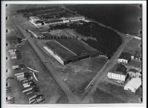 ZZ-5202/ Wasserkuppe Segelflugplatz Foto seltenes Luftbild 18 x 13 cm 1937