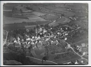 ZZ-2867/ Rückers bei Schlüchtern Foto seltenes Luftbild 1937 18 x 13 cm