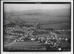 ZZ-2771/ Goddelau b. Riedstadt Foto seltenes Luftbild ca.1938 18 x 13 cm