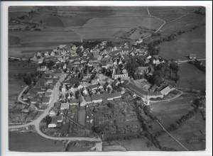 ZZ-2986/ Bundorf Foto seltenes Luftbild 1939 18 x 13 cm