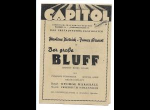 Y15617/ Capitol Kino Hamburg Hoheluftchaussee Programm Marlene Dietrich 1948