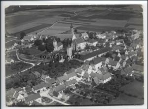 ZZ-2994/ Bissingen Bayern Foto seltenes Luftbild 1936 18 x 13 cm