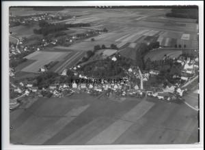 ZZ-2995/ Bühl Bibertal Foto seltenes Luftbild 1937 18 x 13 cm