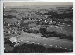 ZZ-3017/ Heimenkirch Foto seltenes Luftbild 1935 18 x 13 cm