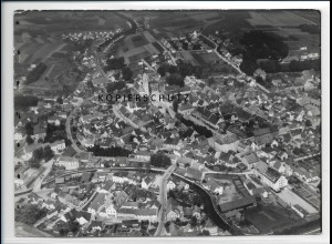 ZZ-3025/ Pfaffenhofen Foto seltenes Luftbild 1937 18 x 13 cm