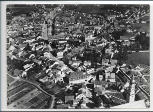 ZZ-3029/ Deggendorf Foto seltenes Luftbild 1937 18 x 13 cm