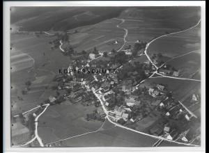 ZZ-3030/ Anhausen b. Diedorf Foto seltenes Luftbild 1937 18 x 13 cm