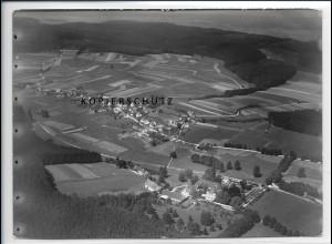 ZZ-3041/ Wollmetshofen b. Fischach Foto seltenes Luftbild 1937 18 x 13 cm
