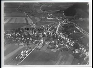 ZZ-3042/ Fischach Foto seltenes Luftbild 1937 18 x 13 cm
