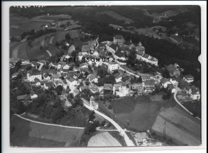 ZZ-3056/ Fürstenstein Foto seltenes Luftbild 1938 18 x 13 cm