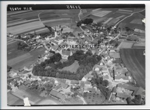 ZZ-3058/ Gerzen Foto seltenes Luftbild 1938 18 x 13 cm