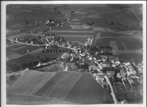 ZZ-3060/ Gessertshausen b. Augsburg Foto seltenes Luftbild 1937 18 x 13 cm