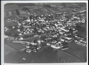 ZZ-3062/ Markt-Grafing Foto seltenes Luftbild 1938 18 x 13 cm