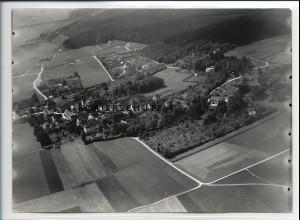 ZZ-3064/ Lautershofen bei Augsburg Foto seltenes Luftbild 1938 18 x 13 cm