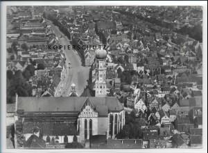 ZZ-3067/ Augsburg Foto seltenes Luftbild 1937 18 x 13 cm