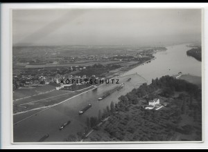 ZZ-5127/ Erbach bei Eltville Foto seltenes Luftbild ca.1938 17,5 x 12 cm