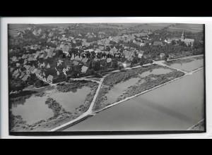 ZZ-5119/ Großwallstadt Foto seltenes Luftbild 1936 18 x 10 cm