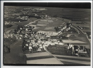 ZZ-4013/ Bad Nauheim Foto seltenes Luftbild ca. 1938 18 x 13 cm
