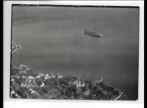 ZZ-3081/ Graf Zeppelin ü. Friedrichshafen Foto Luftbild 1939 18 x 13 cm
