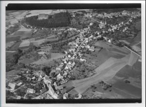 ZZ-3181/ Schillingsfürst Foto seltenes Luftbild 1938 18 x 13 cm