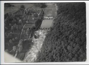ZZ-3525/ Niederschelt Freibad b. Dillenburg Foto Luftbild 1938 18 x 13 cm