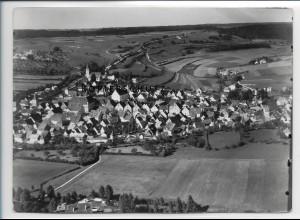 ZZ-3115/ Greding Foto seltenes Luftbild 1936 18 x 13 cm