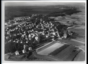ZZ-3186/ Behringersdorf bei Schwaig Foto seltenes Luftbild 1936 18 x 13 cm