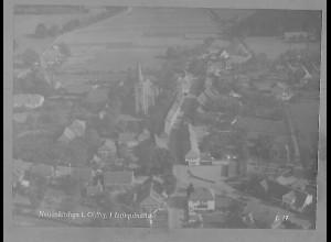 Neg5543/ Neuenkirchen i. O. Luftaufnahme altes Negativ 50er Jahre