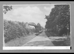 Neg5495/ Albersdorf Weg zur Hochbrücke altes Negativ 40/50er Jahre