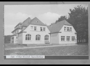 Neg5468/ Syke Oskar Heidrich Jugendherberge altes Negativ 50er Jahre