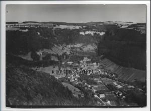 ZZ-3726/ Gutenberg b. Lenningen Foto seltenes Luftbild 1935 18 x 13 cm