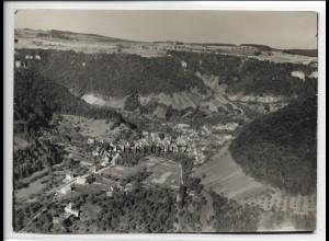 ZZ-3722/ Gutenberg b. Lenningen Foto seltenes Luftbild 1934 18 x 13 cm