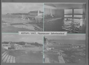 Neg5698/ Keitum Sylt Meerwasser Schwimmbad altes Negativ 50/60er Jahre
