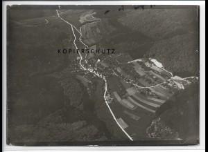 ZZ-3269/ Nassach Aidhausen seltenes Foto Luftbild 1936 18 x 13 cm