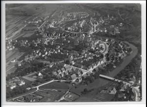 ZZ-3270/ Uhingen seltenes Foto Luftbild 1936 18 x 13 cm