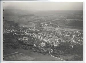 ZZ-3274/ Uhingen a. Fils seltenes Foto Luftbild 1936 18 x 13 cm