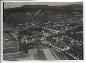 ZZ-3277/ Wäschebeuren Elisabethenberg seltenes Foto Luftbild 1936 18 x 13 cm