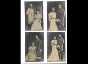 XX11962/ 4 x Foto AK Herzogin Sophie Charlotte 1906