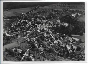 ZZ-3244/ Zell am Harmersbach seltenes Foto Luftbild 1937 18 x 13 cm
